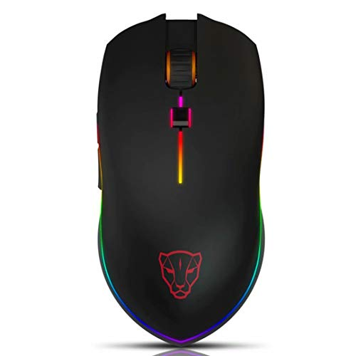 MOTOSPEED USB Wired 4000DPI Gaming Mouse Support Macro Programming, with 6 Buttons, Adjustable RGB Backlit, 6 Adjustable DPI Mouse for PC, Laptop, Apple MacBook