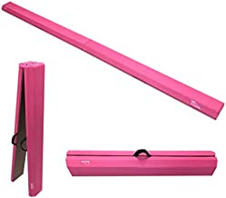 The Beam Store Pink Folding Balance Beam (8-Feet) WOOD CORE Made in USA