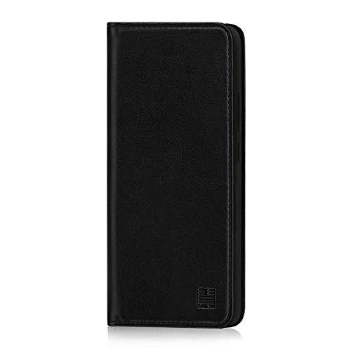 32nd Klassische Series - Lederhülle Case Cover für Nokia 9 PureView (2019), Echtleder Hülle Entwurf gemacht Mit Kartensteckplatz, Magnetisch & Standfuß - Schwarz