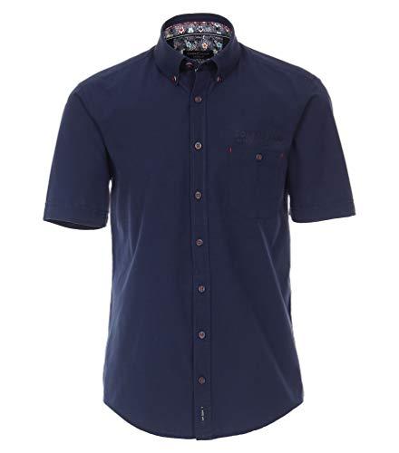 CASAMODA schickes Cityhemd Kurzarm Normalschnitt dunkelblau Größe L