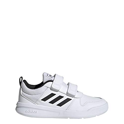 adidas Unisex-Child Tensaur Road Running Shoe, Footwear White/Core Black/Footwear White, 35 EU