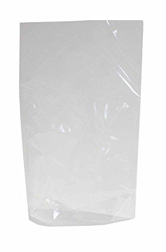 folia 483 - Bodenbeutel ohne Druck, ca. 18 x 30 cm, 10 Stück - zum individuellen Verpacken von Keksen, Süßigkeiten und vielem mehr