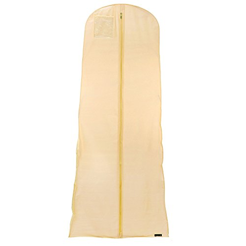 Hangerworld Lot de 10 Housses imperméables pour Robes de mariée/soirée Ivoire