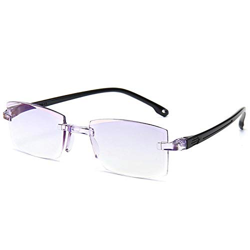 CQKJ Modern Anti Glare Readingglasses Rimless Fashion Uv and Blue Blocking Lens Fits Anyone in a Variety of Styles 300