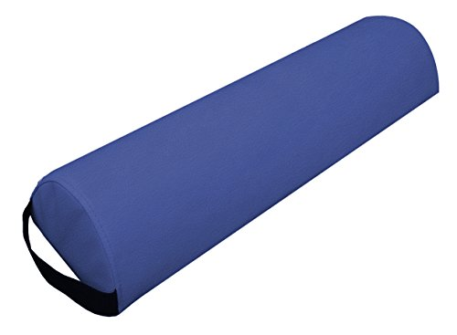 Mari Lifestyle Blue Half Round Bolster Pillow | Support Cushion for the Massage Table, Therapy, & Beautician Chair | Relieves Pressure & Improves Alignment | Portable Massage Pillow that Won't Roll