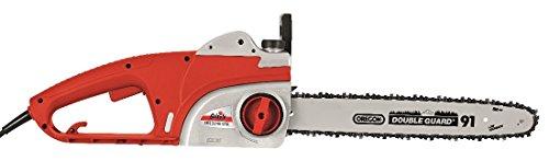 Grizzly Elektro-Kettensäge EKS 2240 QTX Motorsäge 2200 Watt - 39,5 cm Schnittlänge - Oregon Kette und Schwert - automatische Kettenschmierung - Metallgeriebe - inkl. Kettenöl