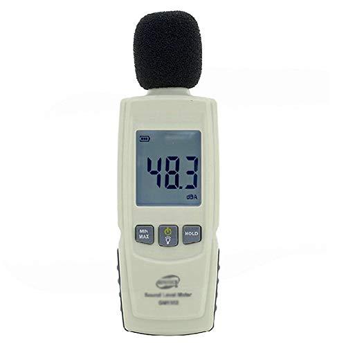 AIZYR Schallpegelmesser, Dezibelmeter - Professionelles Rutschfestes Design Schallmesser, Langlebiges Leben, Kompakte Und Einhändige Bedienung