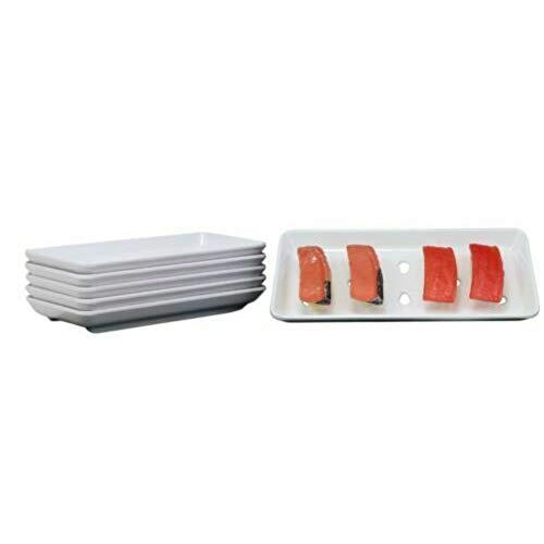 Raw Sushi Preparation Storage White Neta Zara Melamine Plates Set of 6 Figurine EBR02