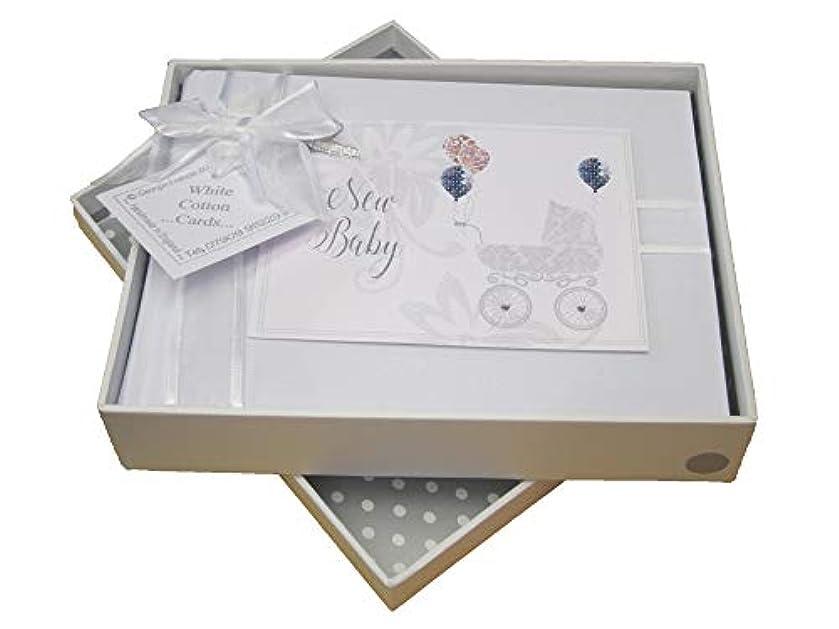 White Cotton Cards 'New Baby' Photo Album, Silver Pram (DTS1S)