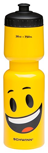 Schwinn Emoticon Water Bottle with Smiley, 26 oz, Yellow -  Pacific Cycle, Inc (Accessories), SW78886-2
