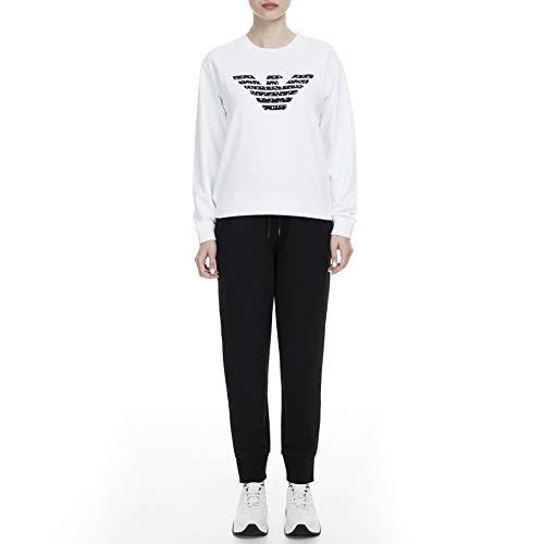Armani Exchange Double Knit, Side Logo Pantalones de Deporte, Negro (Black 1200), 40 (Talla del Fabricante: Small) para Mujer
