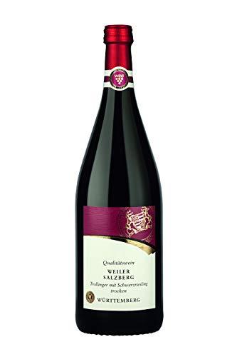 Württemberger Wein Weiler Salzberg Trollinger mit Schwarzriesling QW trocken (1 x 1,0l)
