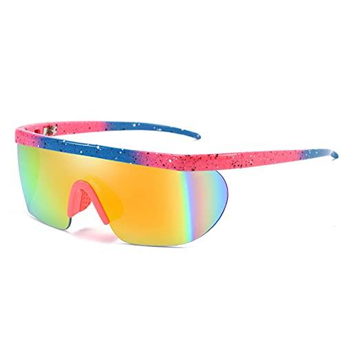 NZAUA Gafas de Sol Deportivas, 100% UV Protección A Prueba de Viento Eyewear polarizado para Hombres Mujeres Ciclismo Conducción Béisbol C
