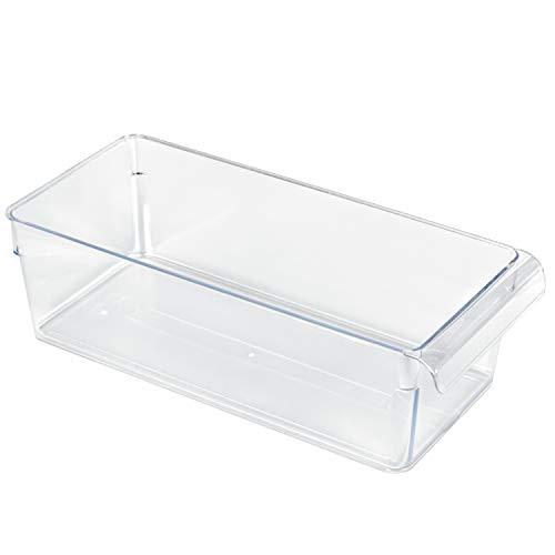 Rotho Loft Kühlschrankorganizer 3.1l, Kunststoff (SAN) BPA-frei, transparent, M/3,1l (31,0 x 14,0 x 9,0 cm)