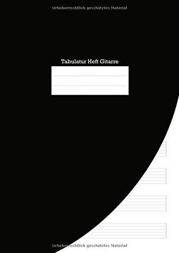 Tabulatur Heft Gitarre: A4 Softcover mit 8 Tabs und Platz für Überschriften