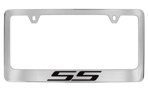 Chevy SS (Black) Chrome Plated Brass License Plate Frame