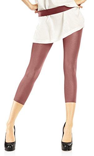 Marilyn 3/4 lange Leggings, 100 Denier, Größe 36/38 (S/M), Farbe Beige (sand)