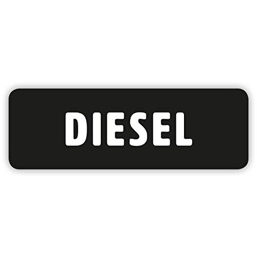 """Gobrecht & Ulrich 4 Stück - """"Diesel""""-Aufkleber für Tankdeckel/Tankklappe - 6,6 x 2,2 cm"""