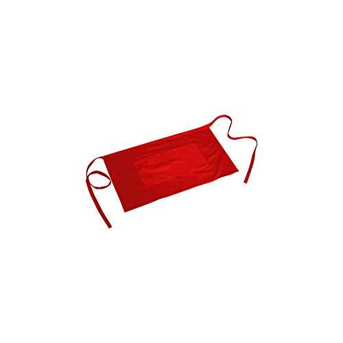 MISEMIYA - Delantal Corto con Bolsillo Delantal Cocina Delantal Mujer Deltanl Hombre 40mmx70mm - Ref.860 - Rojo, Pack*1, 40cm*70cm - 860