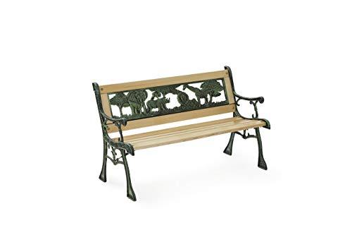 Lifa Garden Mini-Banc de Jardin, Banc d'Extérieur pour Enfants, Mini Banc d'extérieur Bois, 82 x 39 x 50cm