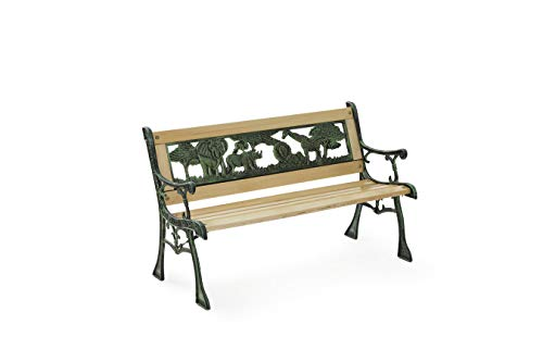 Lifa Garden Mini-Banc de Jardin, Banc d'Extérieur pour Enfants, Mini Banc d'extérieur Bois, 82 x 58 x 120cm
