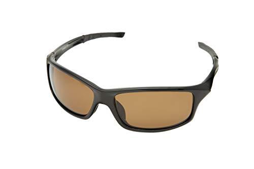 Snowbee Unisex Prestige Streamfisher Sunglasses, Gloss Black/Amber, One Size