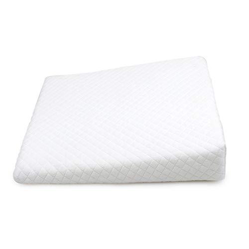 YOUNGE Almohada redonda de algodón antireflujo, cuadrada, transpirable, para recién nacidos, cojín antideslizante para la piel del bebé