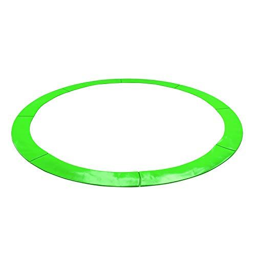 KAIA SPORTS - Cojín de protección universal Deluxe para cama elástica de 185 cm de diámetro, 244 cm de diámetro, 305 cm de diámetro, 366 cm de diámetro, 400 cm de diámetro, 424 cm de diámetro, resistente y anti UV, verde manzana, 13FT - 400CM