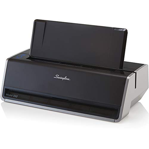 Swingline Electric 2 Hole Punch, Commercial Hole Puncher, 28 Sheet Punch Capacity, Platinum (74532)