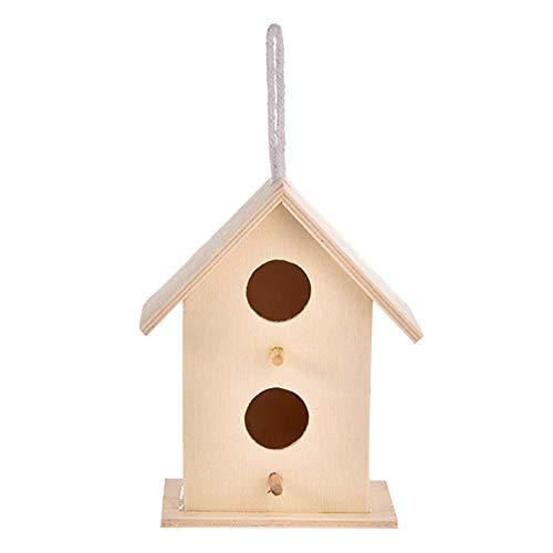 poetryer Nido Casa para Pájaros Birdhouse De Madera Montado En La Pared Nido De Pájaro De Madera Casita Decoración De Jardín, Terraza O Balcón