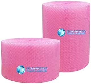 Diamond Packaging Luftpolsterfolie, antistatisch, 750 mm x 25 m, Pink Ideal für körperlichen Schutz während des Transports durch Elektrostatische