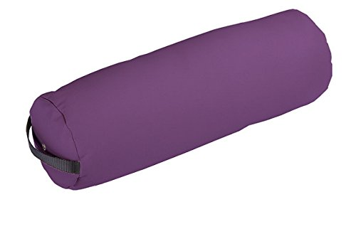 EARTHLITE Bolster Pillow Fluffy – Durable Massage Bolster, 100% PU Upholstery incl. Strap Handle/Professional Quality for Massage Tables/Back Pain Relief-Amethyst