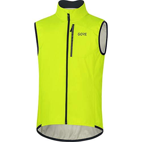 GORE WEAR Chaleco de ciclismo Spirit para hombre, GORE-TEX INFINIUM, L, Amarillo neón