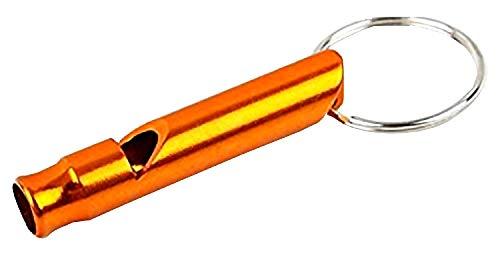Sleutelhanger met fluitje oranje kleur cadeau idee voor man vrouw