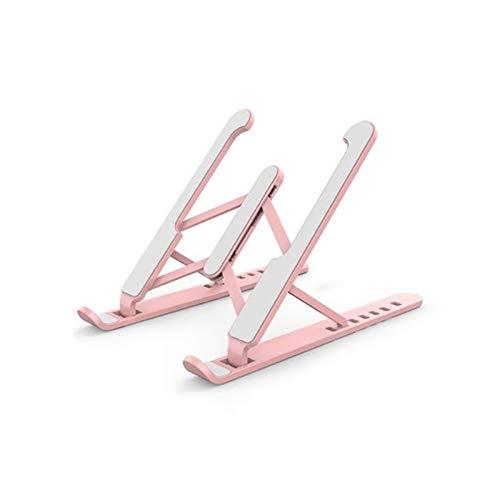 ZXZCV Portable Laptop Riser, Laptop Stand Fit For Desk, 6 Angles Adjustable Ergonomic Holder For 10-15.6Inch Computer (Pink) (Color : Pink)