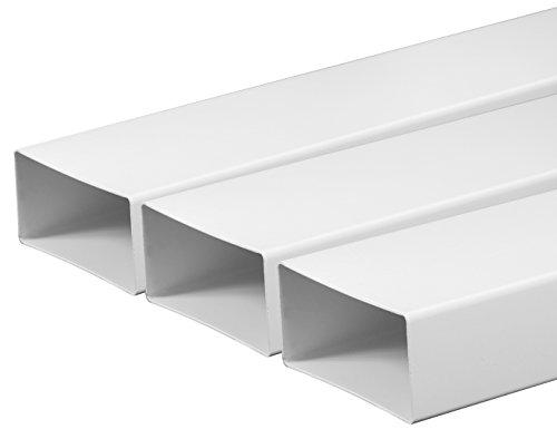 Ventilatiebuis, ventilatiekanaal, 75 x 150 mm, lengte 0,5 m, van kunststof, kanaal, vlakkanaal, uitlaatpijp, afzuigkanaal, afzuigkap kunststofkanaal, vlakkanaalsystemen, 50 cm lang steeksysteem, ronde pijpsysteem