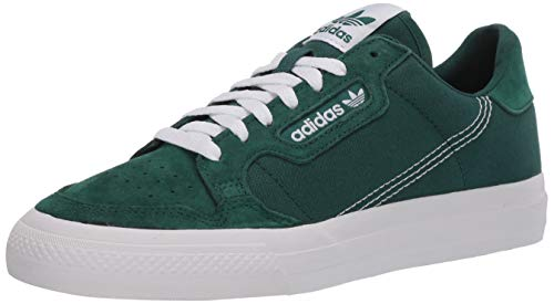 adidas Originals Unisex Continental Vulcanized Sneaker, Collegiate Green/Collegiate Green/White, 5 US Men