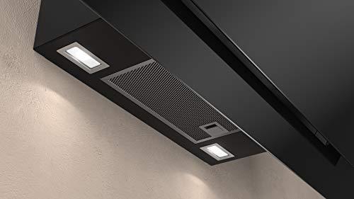 Neff D95IPP1N0 Dunstabzugshaube schräg N70 / 90cm / Abluft oder Umluft / EfficientDrive / TouchControl / Energieeffizienz A / Klarglas / schwarz - 4