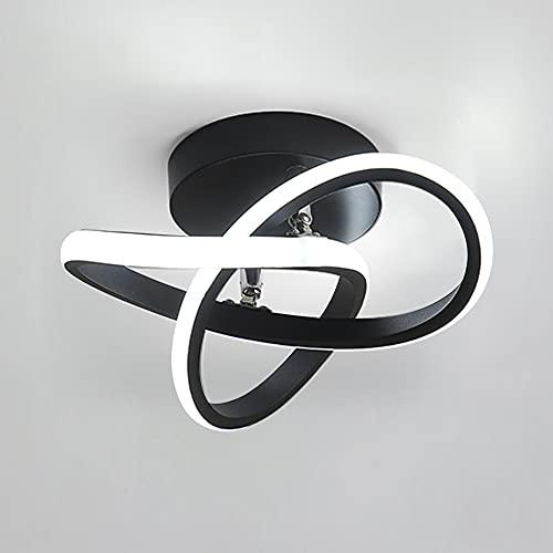 Goeco Lámparas de Techo, Plafón LED acrílica Forma de Flor 22W para Pasillos, Sala de Estar, Dormitorio, diámetro 24cm, 3000K-6500K (3 temperaturas de Color)