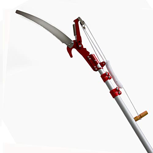 【Amazon 限定ブランド】 QD-BYM 高枝ばさみ 高枝切鋏 6M 自由伸縮 枝切り鋏 炭素鋼 軽量 加長形