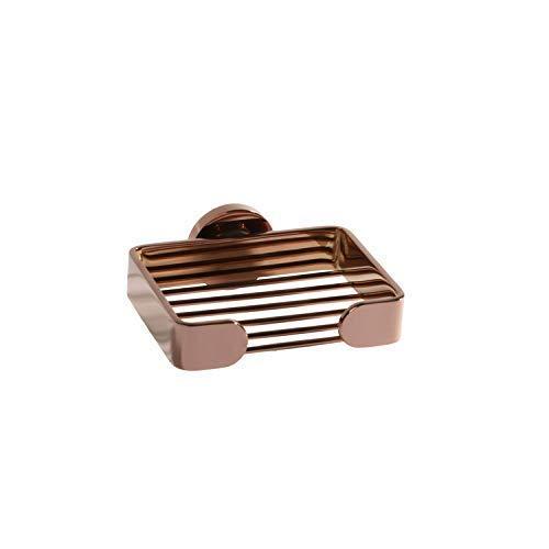 Panier de savon de salle de bain pendentif de salle de bain en acier inoxydable 304 porte-savon drain drain filet de savon multi style, porte-savon en or rose pour savon de douche de salle de bain