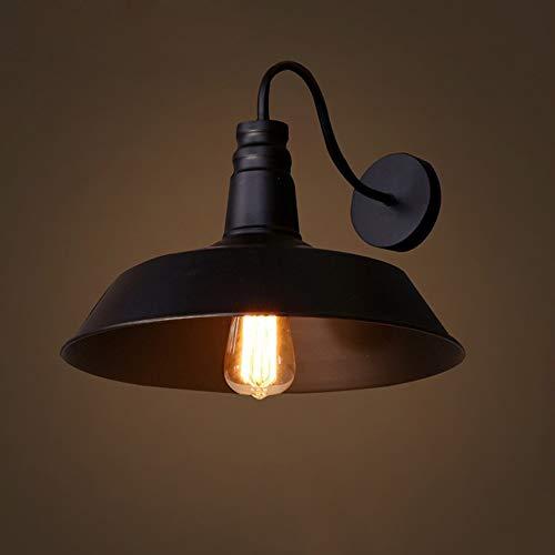 DKEE Luces de Pared Country E27 Diámetro del Material De Hierro Forjado 260 Mm Lámpara De Pared Lámparas De Iluminación Dormitorio Sala De Estar Estudio Pasillo Pasillo