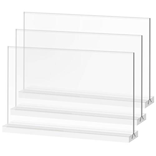 Acrylic Sign Holder 8.5x5.5 Inch Double-Sided Announcements and AD Frame - for Catering, Store, Conferences, Events, Business, Certificates, Hotel, Wedding, Home,Etc. - newnewshow