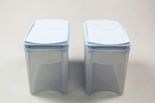 Tupperware Eidgenosse Plus 1,0 L (2) himmelblau Vorratsdose A141 Vorrat Dose Modular
