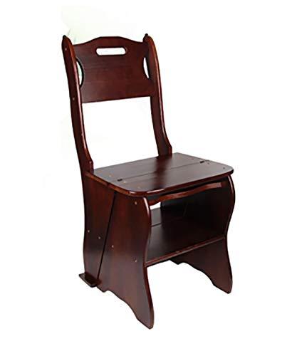 IAIZI Massivholz Schritt Hocker Folding Haushalts Stair Chair Freizeit Bar Stuhl Indoor Multi-Funktions-Dining Chair (Color : 2#)