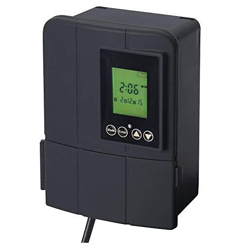 Sterno Home GL33050 Paradise 12V 50W Low Voltage Landscape Lighting Transformer with Dusk-to-Dawn Timer, 6.26