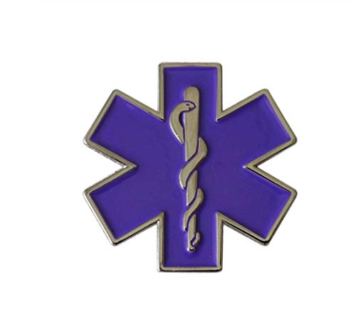 Parche Nación Paramédica Estrella de la Vida Púrpura Cosplay Broche Pin Pin Insignia