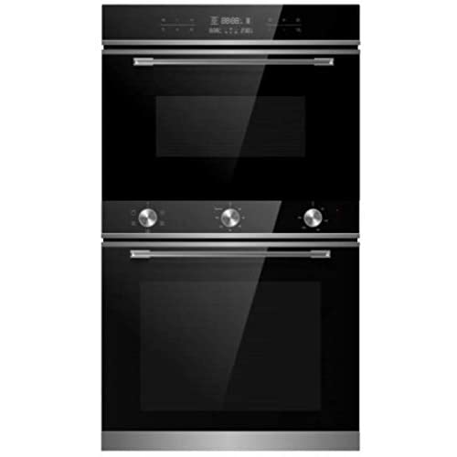 Cookology TOF600SS 72L Built-in Electric Oven & 44L Compact Microwave Oven Pack