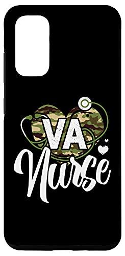 Galaxy S20 VA Nurse Camo Camouflage Stethoscope Heart Case