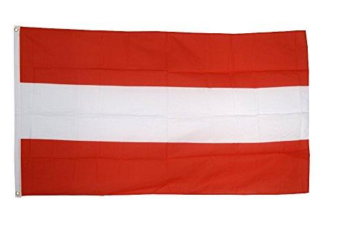 Vaandel/vlag Oostenrijk + gratis stickers, Flaggenfritze® Hissflagge 90 x 150 cm